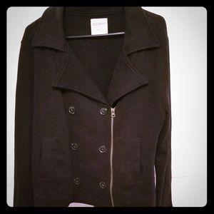 Black button up/zipper jacket